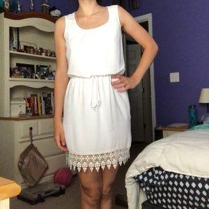 White Summer Boho Dress